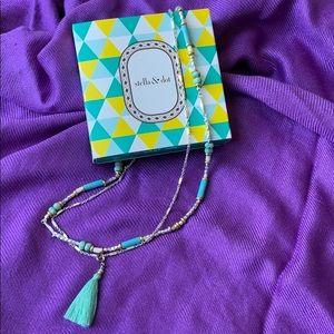 Stella & Dot Double Strand Tassel Necklace